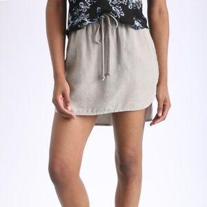 Anthro Cloth & Stone Gray Tencel Mini Skirt